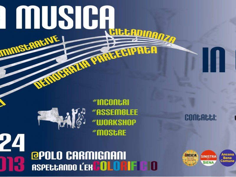 """Da domani al Polo Carmignani prende il via l'incontro nazionale """"Un'altra musica in comune"""""""