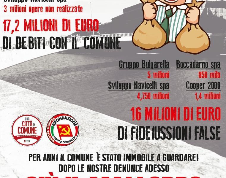 Ai cittadini e alle cittadine di Pisa